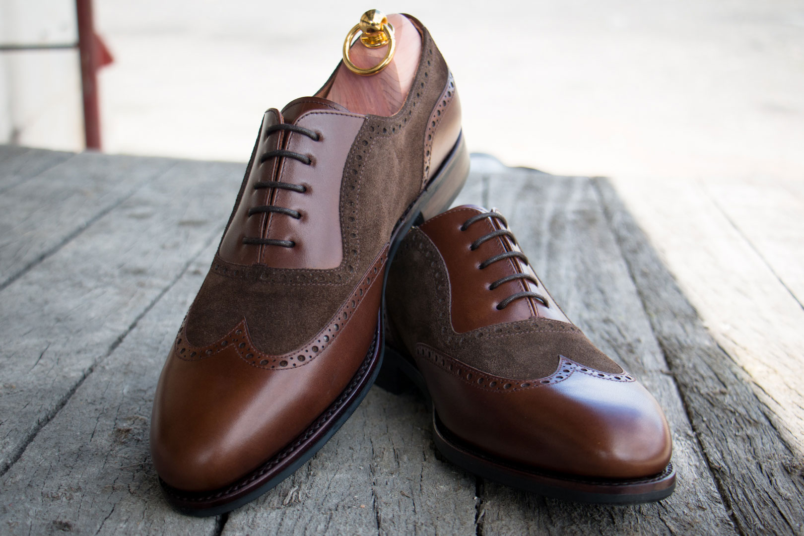 Suede and Smooth Leather Brogues