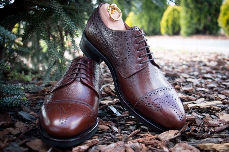 Derby shoes scotch grain leather