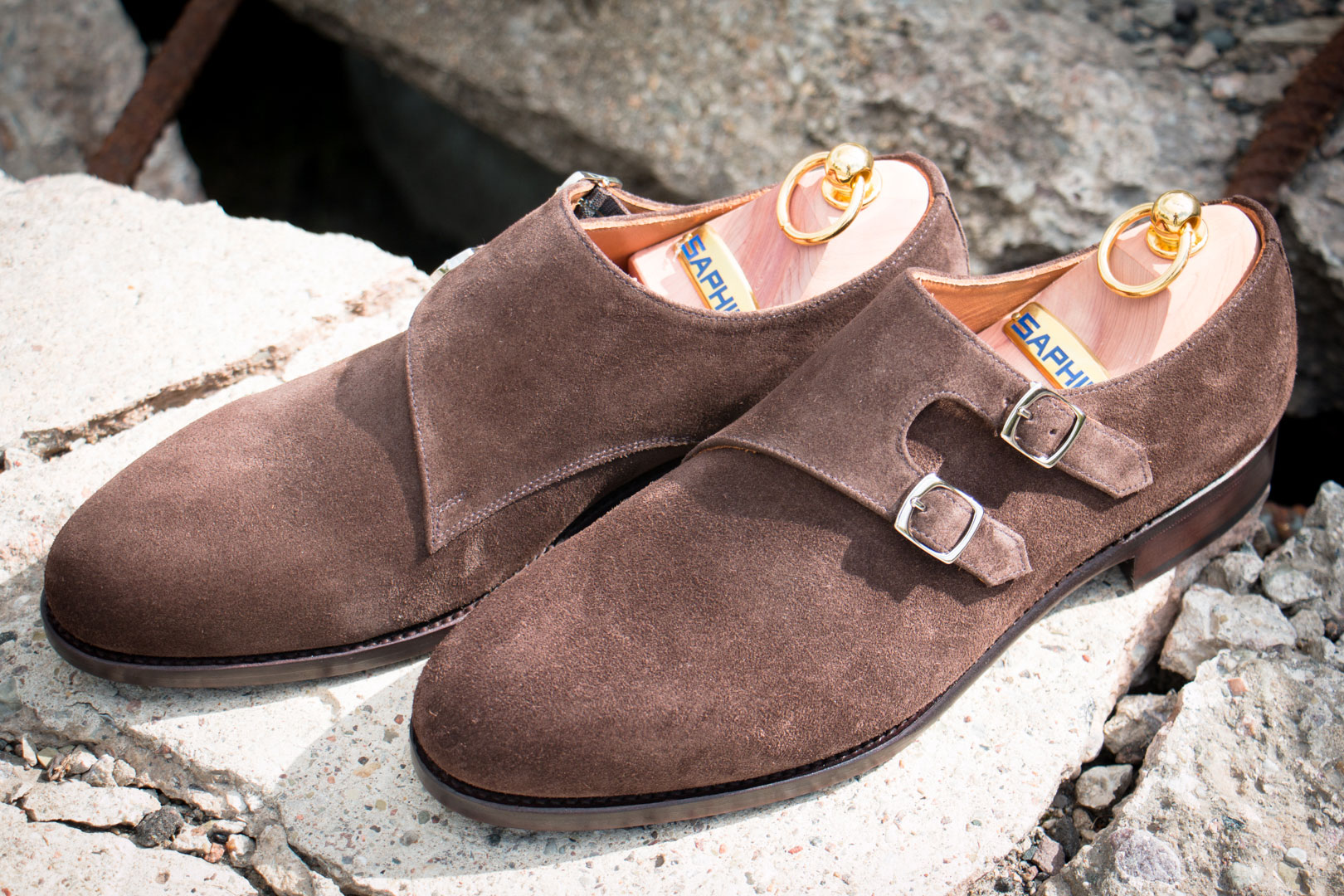 Suede Monks
