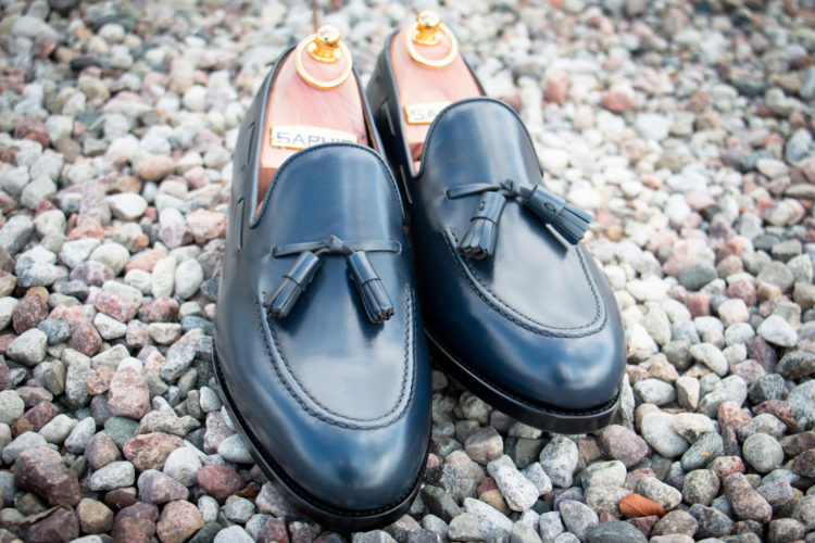 Loafers in Navy Leather