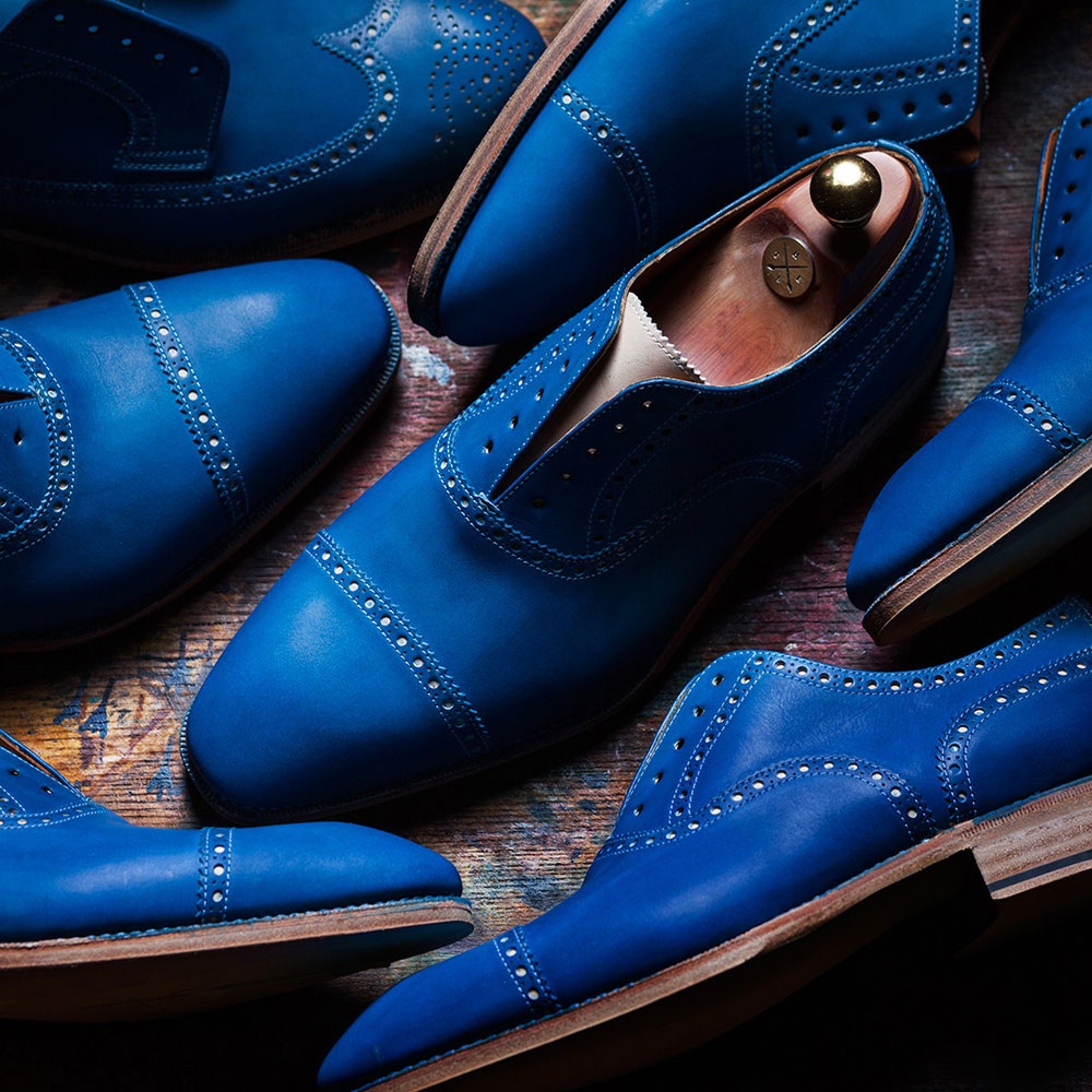 Hand Painted Blues Shoes for Men