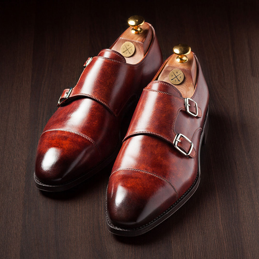 Hand Painted Monk Shoes