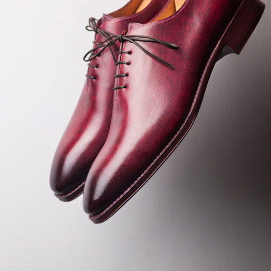 Red Wholecut Shoes
