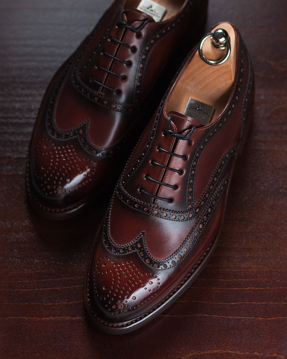 Hand Painted Full Brogues