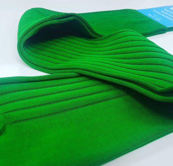 Men's Knee Socks in Green.