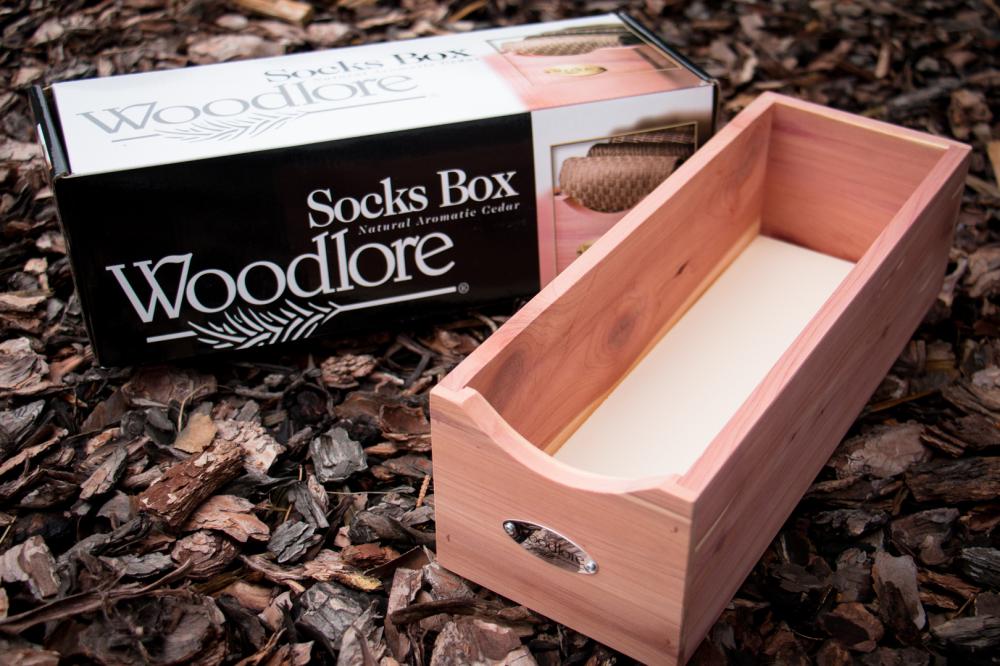 Cedar Socks Organizer Box