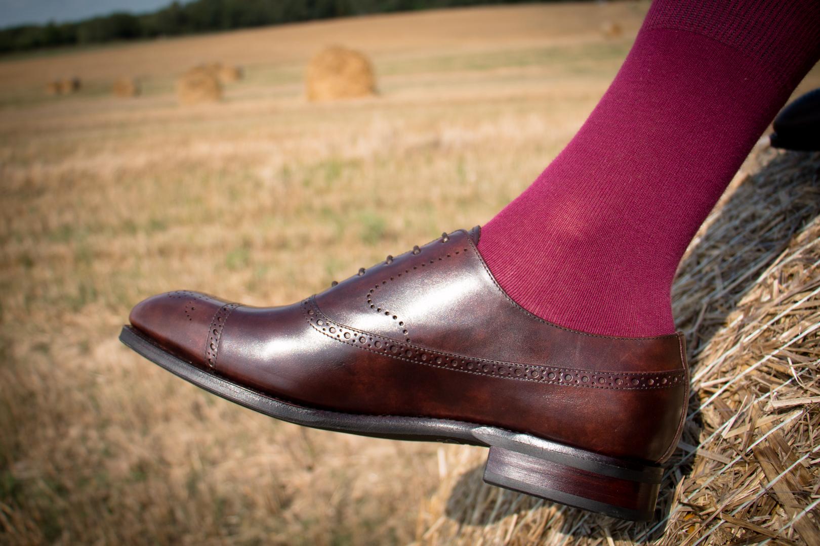 Piękne eleganckie buty garniturowe