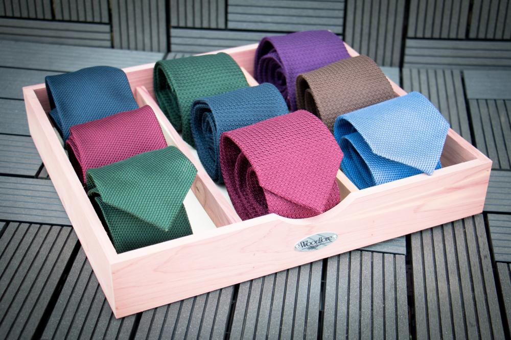 Grenadine Ties and Cedar Box