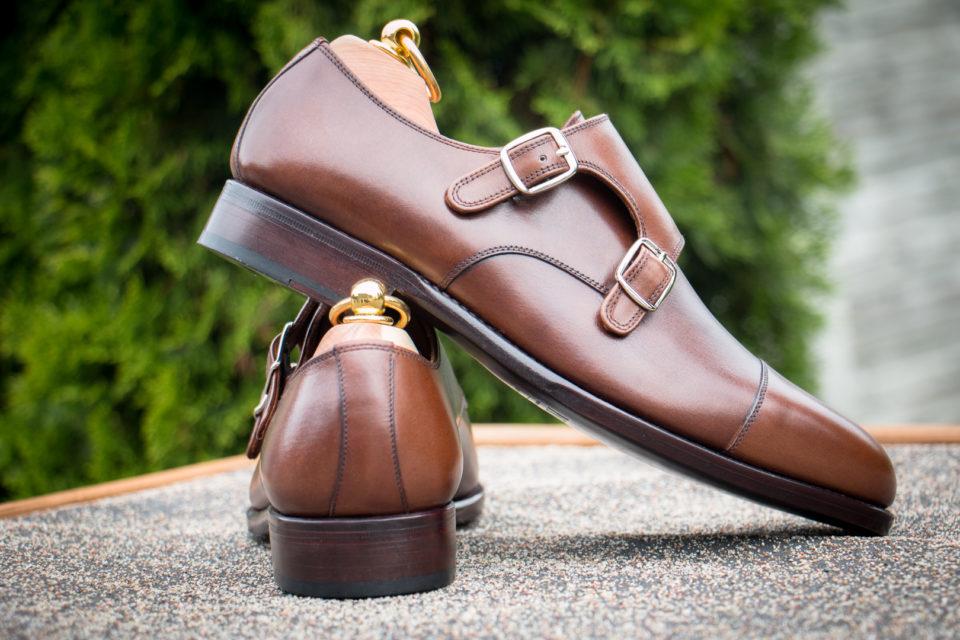 Garniturowe buty męskie - monki