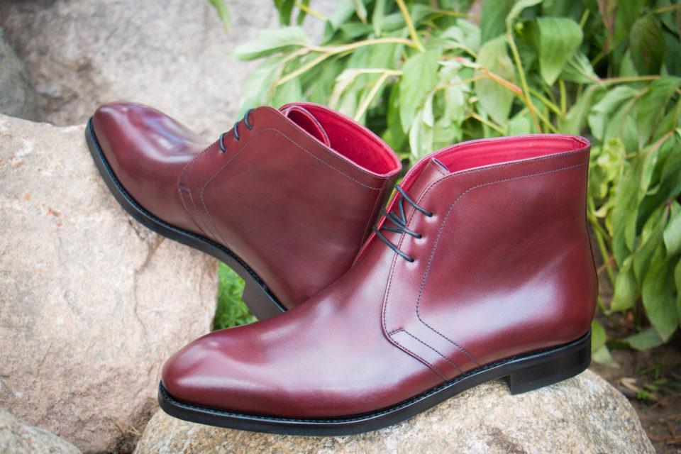 Burgundy Chukka Boots