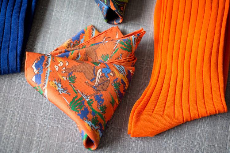 pomarańczowa poszetka