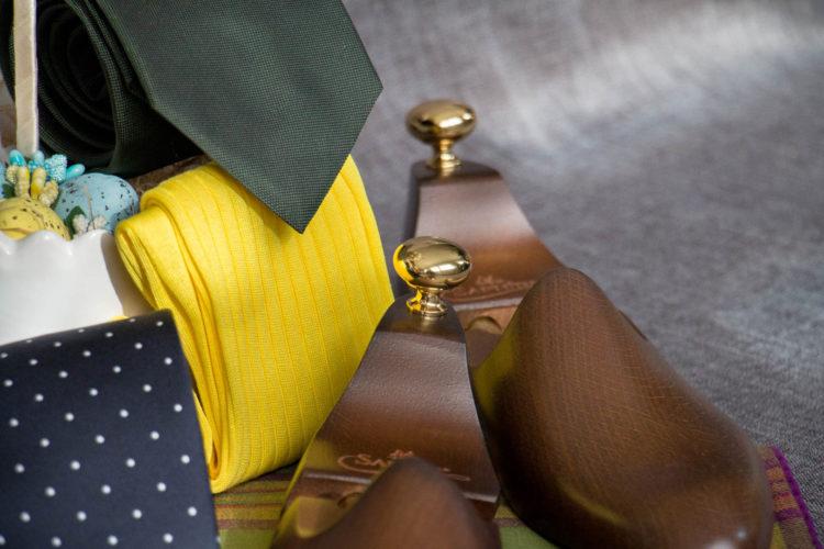 Zielony krawat z jedwabiu