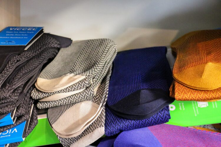 Over the calf socks for men Shadow Viccel bi color