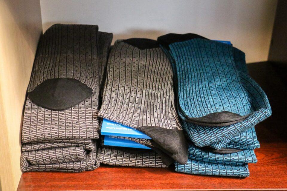 podkolanówki męskie z egipskiej bawełny