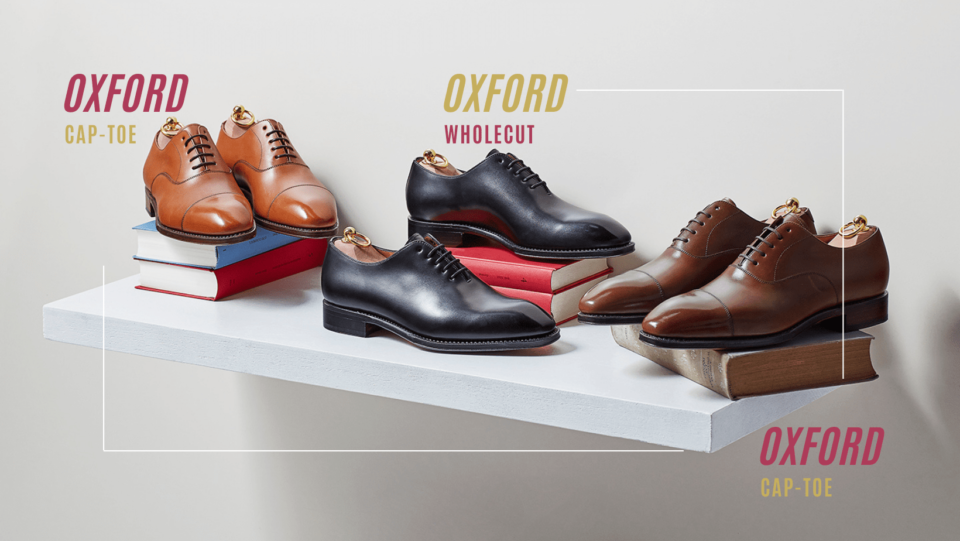 Buty typu oksford cap-toe i oxfordy lotniki typu wholecut - najbardziej formalne męskie eleganckie obuwie.