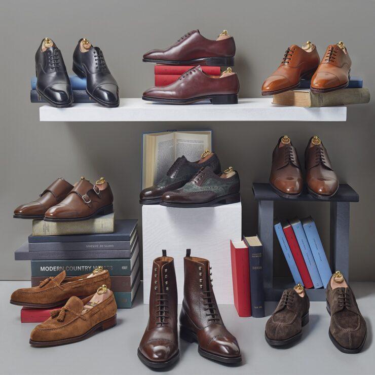 Eleganckie męskie klasyczne buty garniturowe szyte metodą ramową goodyear welted.