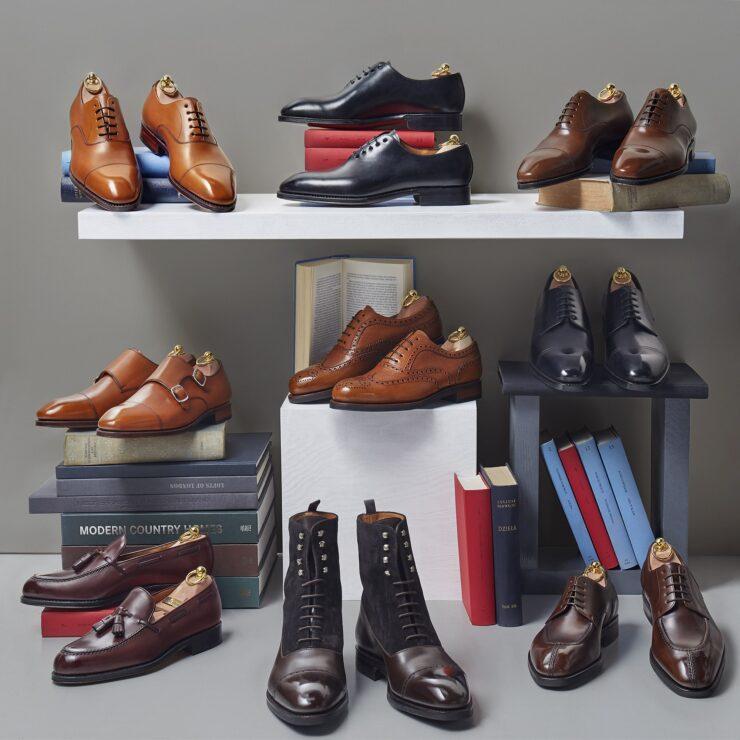 Męskie eleganckie garniturowe buty klasyczne szyte metodą pasową goodyear welted.