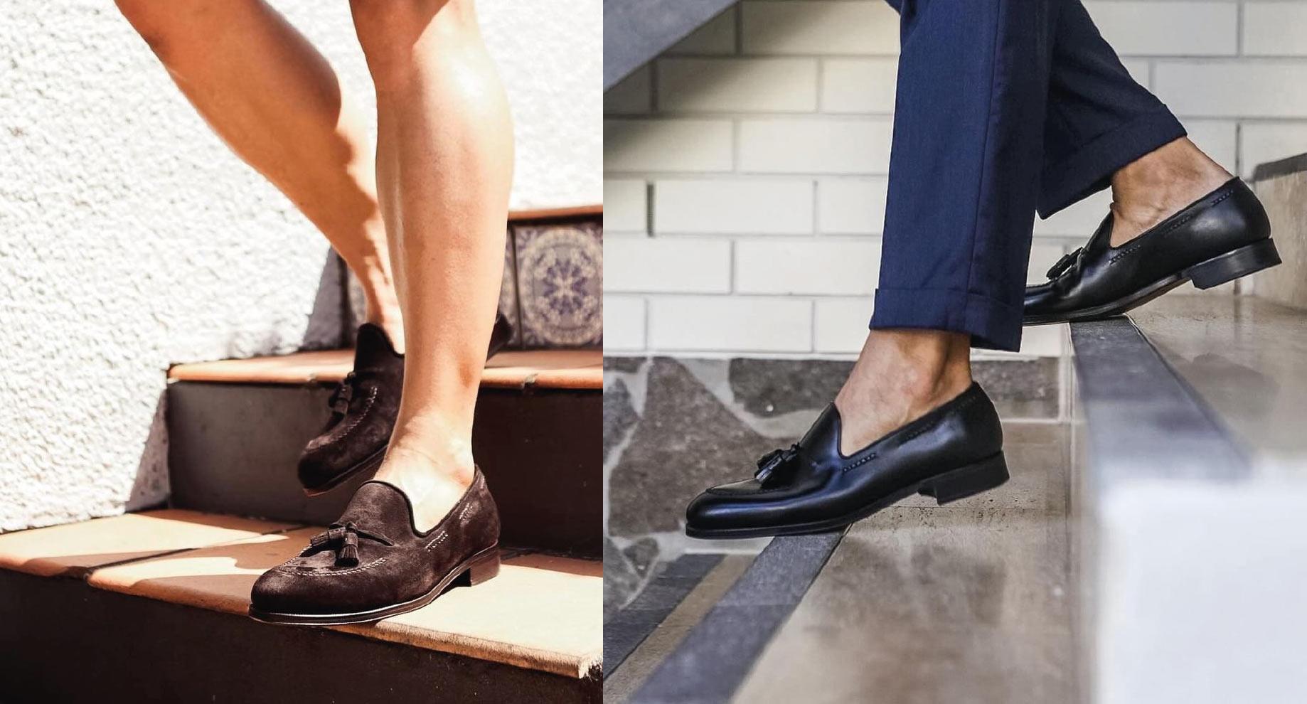 Mokasyny bez skarpetek ba gołą stopę. Eleganckie Loafersy na lato.