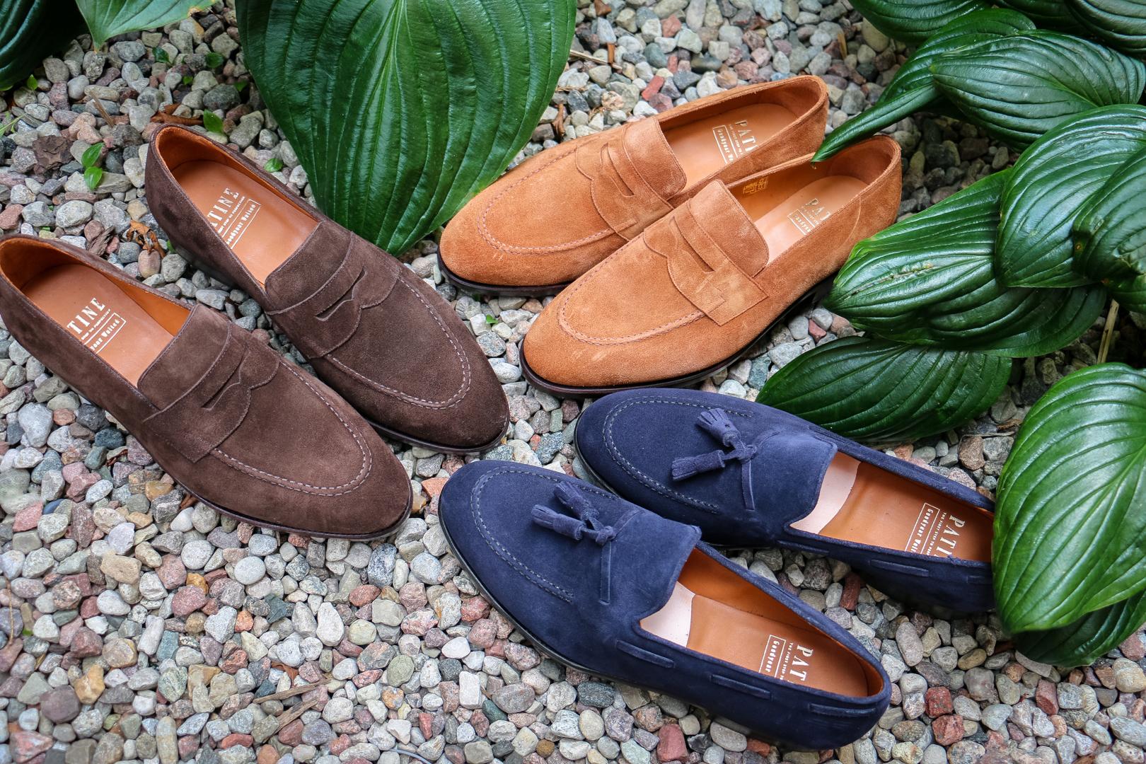Loafers buty dla gentlemana na lato, zamszowe mokasyny