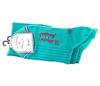 LCF Men Knee Socks INVALIDES Turquoise