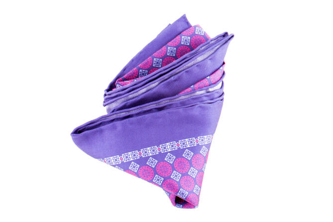 Pocket Square Twill PAT14554 Dutch Blue
