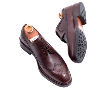 TLB MALLORCA Derby Longwing Brogues NOLAN 591STS G Brown - brązowe brogsy