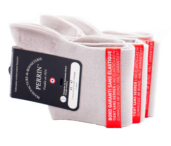 PERRIN Men Socks 384 Gris Clair