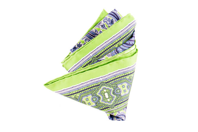 Pocket Square Twill PAT22641 Kiwi
