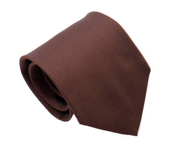 PATINE Tie Solid Silk Marron