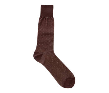 VICCEL Socks Pindot Brown / Beige