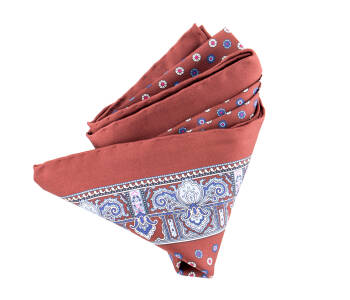 Pocket Square Twill PAT20715 Rich Brown