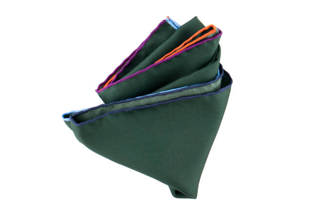 Pocket Square Twill PAT16791 Olive Green