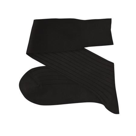 VICCEL Knee Socks Solid Charcoal Cotton