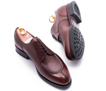 YANKO Split Toe Derby 539Y G Scotch Grain Leather Brown - brązowe angielki męskie