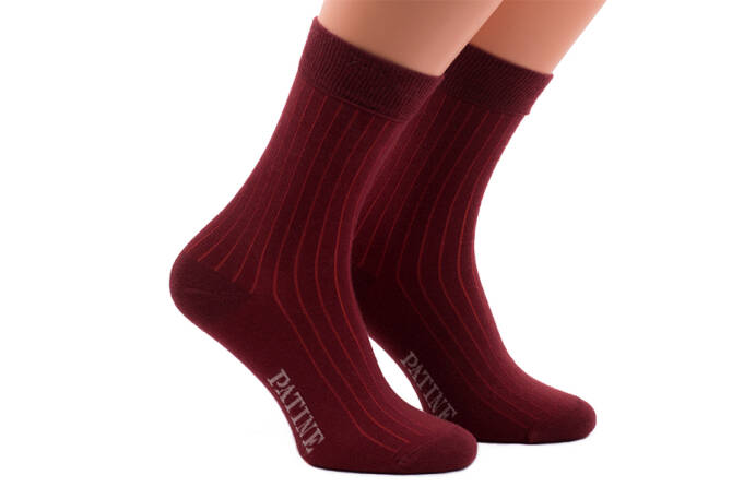PATINE Socks PASH29 Bordeaux/Red