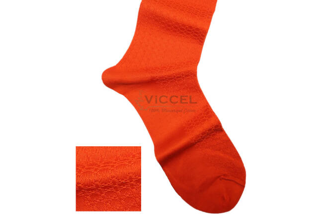 VICCEL Socks Star Textured Orange