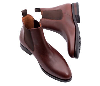 PATINE Chelsea Boots 77036V G Scotch Grain Brown - brązowe sztyblety męskie