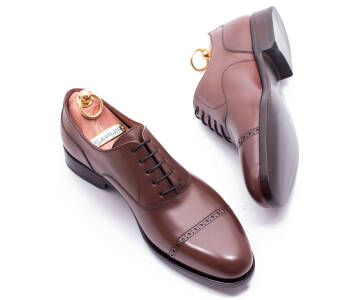 PATINE Quarter Brogues 77003 F Brown - brązowe brogsy męskie