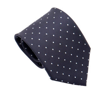 PATINE Tie Printed Silk POLKA-DOT Bleu Petrole