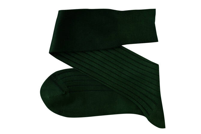 VICCEL Knee Socks Solid Clemetsen Green Cotton