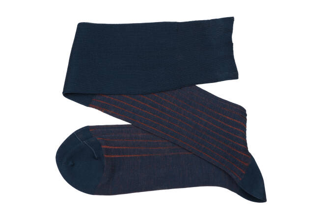 VICCEL Knee Socks Shadow Navy Blue / Taba