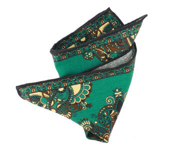 Pocket Square Wool PATHS1612_3 Green