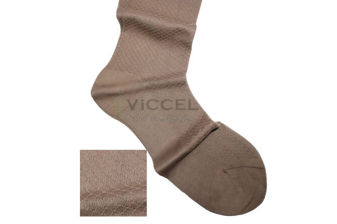 VICCEL Socks Fish Skin Textured Tan