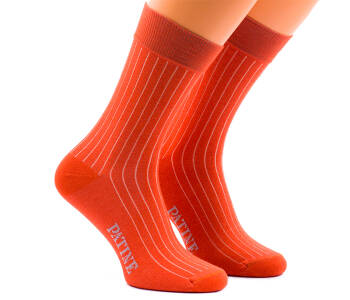 PATINE Socks PASH34 Orange/Cream