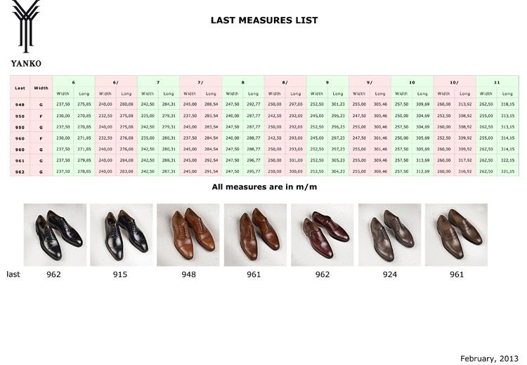 tabela rozmiarowa yanko